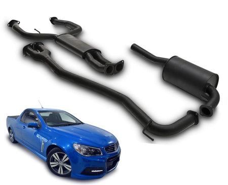 "2.5"" Performance Exhaust System for 6 Cylinder VE, VF Holden Commodore Ute with Single Sided Rear Muffler – Beast Unleashed Performance Exhausts"