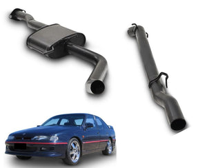 "2.5"" Performance Exhaust System for 6 Cylinder VS Holden Commodore Sedan with IRS (Racing System) – Beast Unleashed Performance Exhausts"
