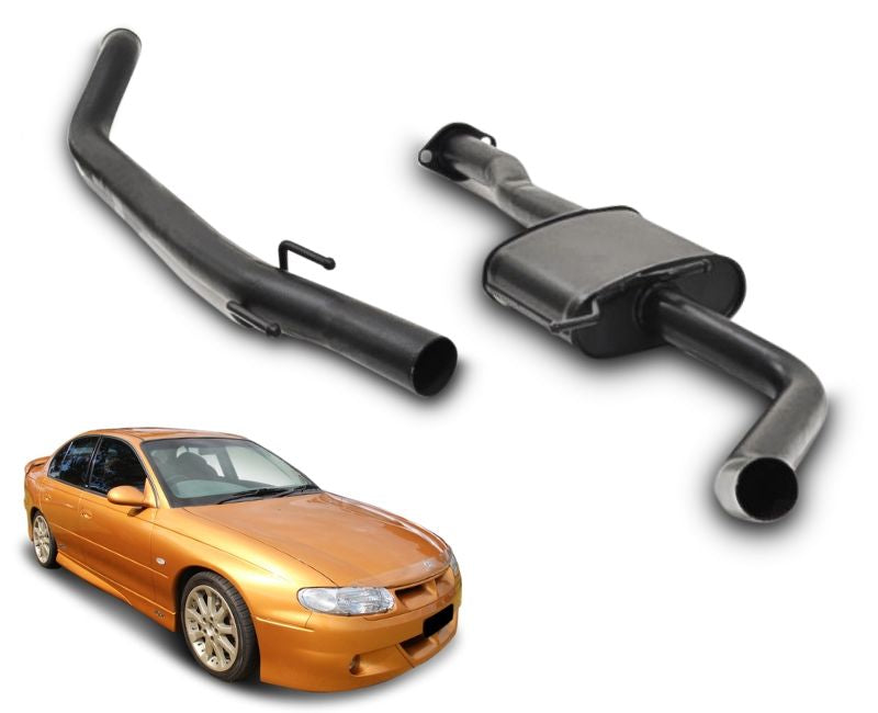 "2.5"" Performance Exhaust System for 6 Cylinder VT, VX, VY Holden Commodore Sedan (Racing System) – Beast Unleashed Performance Exhausts"
