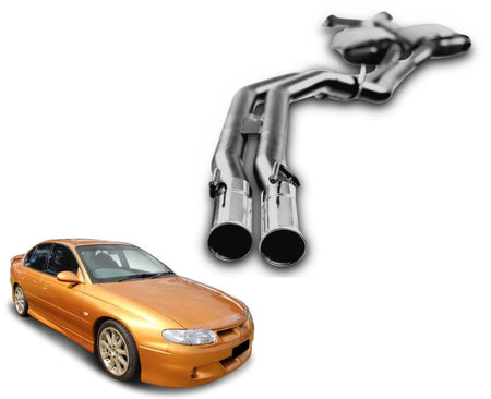 "2.5"" Performance Exhaust System for 5.7lt 8 Cylinder VT Holden Commodore Sedan (Racing System) – Beast Unleashed Performance Exhausts"