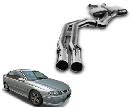 "2.5"" Twin Performance Exhaust System for 5.7lt 8 Cylinder VX Holden Commodore Sedan (Race System) – Beast Unleashed Performance Exhausts"