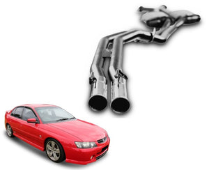 "2.5"" Twin Performance Exhaust System for 5.7lt 8 Cylinder VY Holden Commodore Sedan (Racing System) – Beast Unleashed Performance Exhausts"