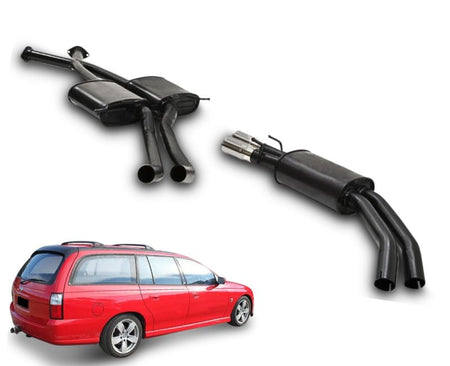 "2.5"" Twin Performance Exhaust System for 5.7lt 8 Cylinder VT Holden Commodore Ute & Wagon (Oval Rear Muffler) – Beast Unleashed Performance Exhausts"