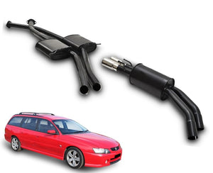 "2.5"" Twin Performance Exhaust System for 5.7lt 8 Cylinder VY Holden Commodore Ute & Wagon (Round Rear Muffler) – Beast Unleashed Performance Exhausts"