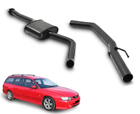 "2.5"" Performance Exhaust System for 6 Cylinder VY Holden Commodore Series 2 Ute & Wagon (Racing System) – Beast Unleashed Performance Exhausts"