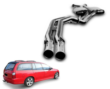 "2.5"" Twin Performance Exhaust System for 5.7lt 8 Cylinder VZ Holden Commodore Ute & Wagon (Racing System)"