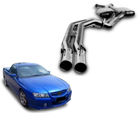 "2.5"" Twin Performance Exhaust System for 5.7lt 8 Cylinder VZ Holden Commodore Ute & Wagon (Racing System) – Beast Unleashed Performance Exhausts"