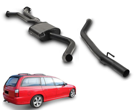 "2.5"" Performance Exhaust System for 6 Cylinder Alloytec VZ Holden Commodore Wagon (Racing System) – Beast Unleashed Performance Exhausts"