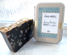 Load image into Gallery viewer, Chocolate Mint Truffle + Soap Dish Set