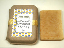 Load image into Gallery viewer, Oatmeal, Lavender and Honey Handmade Soap