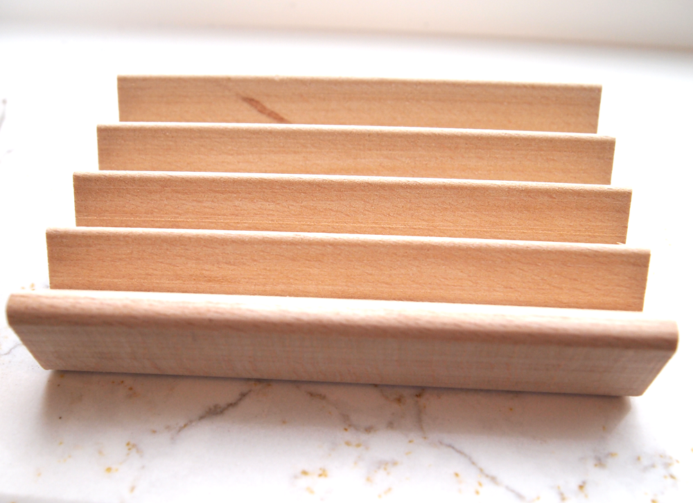 Handcrafted Beech Wood Soap Dish