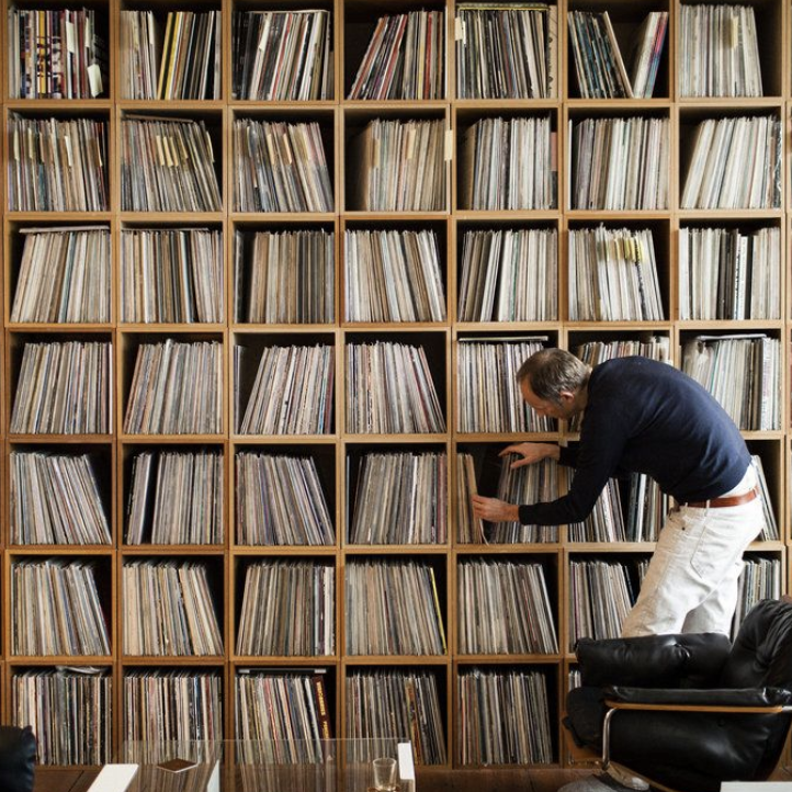 The collector record collection shelf