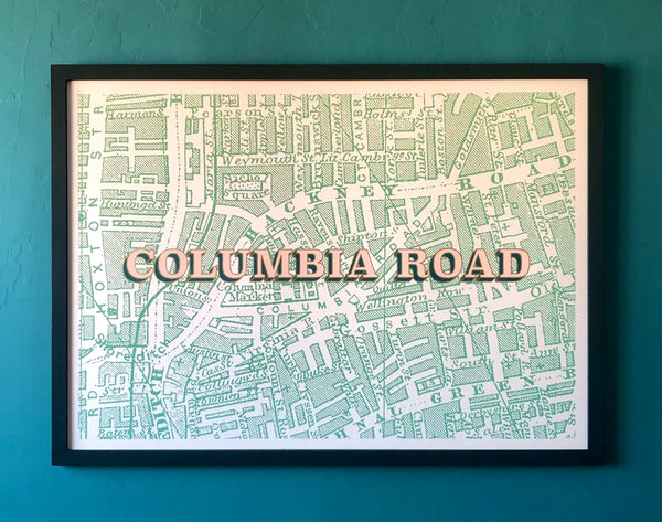Columbia Road Screen print by Planet Patrol