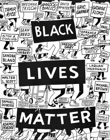 steveespopowers black lives matter art print