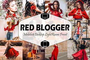 Red Blogger Mobile & Desktop Lightroom Presets, instagram