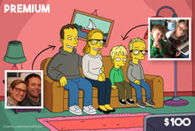 Load image into Gallery viewer, Simpsons portrait for him - Custom family photo gift for her - Yellow characters theme - Digital couple portrait Simpsons Style, Family Pic