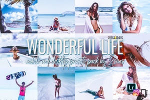 Wonderful Bundle Light Instagram Blogger Lightroom presets