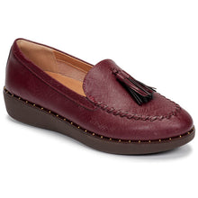Load image into Gallery viewer, Fit Flop Petrina Loafer (Berry & Black)