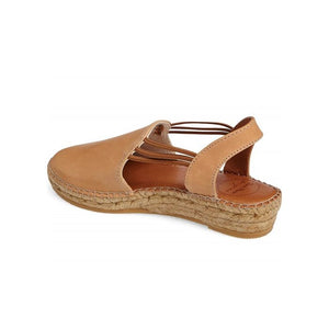 Toni Pons Tan Leather Espadrille