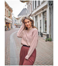Load image into Gallery viewer, Yaya High Neck Pink Sweater