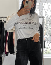 Load image into Gallery viewer, Brunette The Label Babes Social Club Long Sleeve Tee