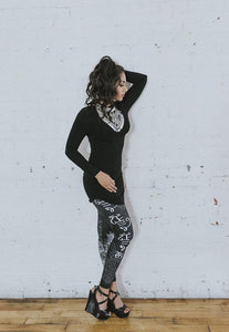NoMiNoU Shabeena Legging (Black & Red)