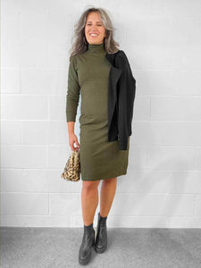 Miik Taryn Sage Turtleneck Dress