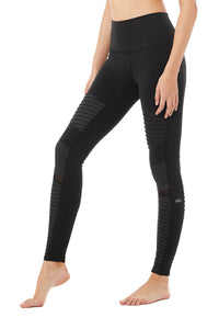 Alo Yoga Hight Waist Moto Legging in Black