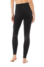 Load image into Gallery viewer, Alo Yoga Hight Waist Moto Legging in Black