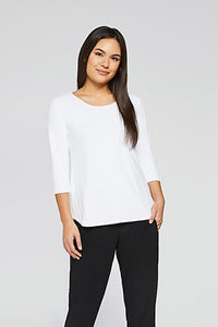 Sympli Go-To Classic T-shirt (White, Lemon, Poppy, Flamingo)