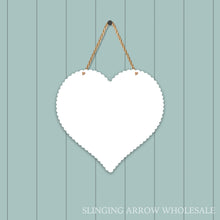 Load image into Gallery viewer, Scalloped Heart Door Hanger