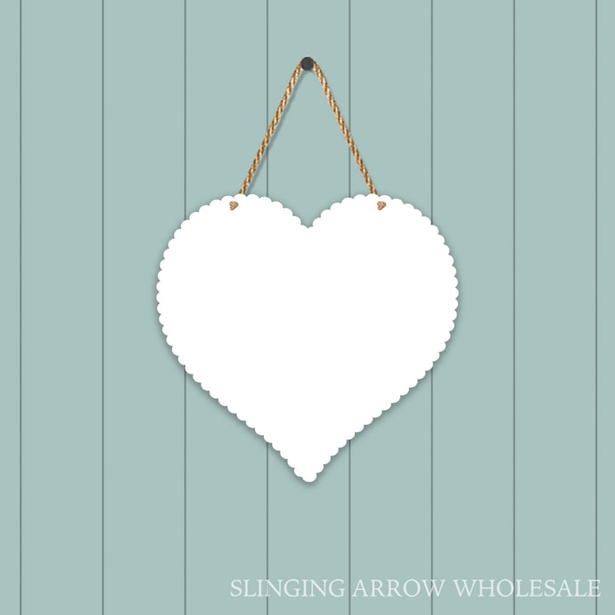 Scalloped Heart Door Hanger