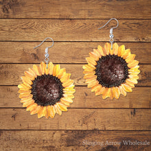 Load image into Gallery viewer, Sunflower Earring Blanks