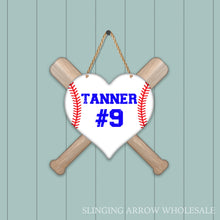 Load image into Gallery viewer, Baseball Heart Door Hanger