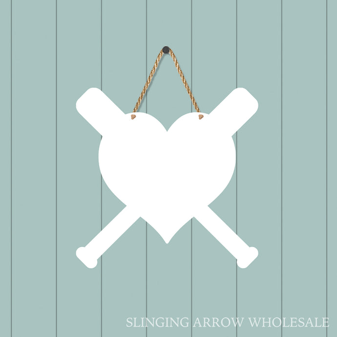 Baseball Heart Door Hanger