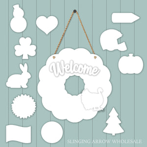 Interchangeable Wreath Door Hanger Set
