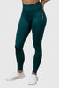 forest-green essential collection seamless leggings wore by iron bull strength athlete