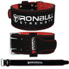 black-red weight lifting belt for powerlifting