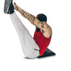 full range of motion for abdominal exercise with mat