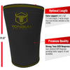 black-army-green iron bull strength 7mm knee sleeves features