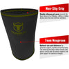 black-army-green iron bull strength 7mm knee sleeves features 2
