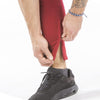 burgundy iron bull strength zip pockets joggers ankle zip feature