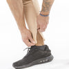 tan iron bull strength zip pockets joggers ankle zip feature