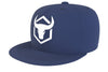 navy-blue acrylic snapback iron bull strength