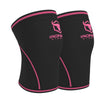 black-pink iron bull strength 7mm knee sleeves side view