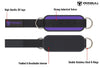purple iron bull strength nylon ankle straps features