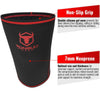 black-red iron bull strength 7mm knee sleeves features