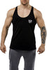 black workout stringer muscle iron bull strength front