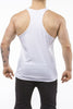white gym tank top classic dry-fit back
