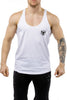 white workout stringer muscle iron bull strength front